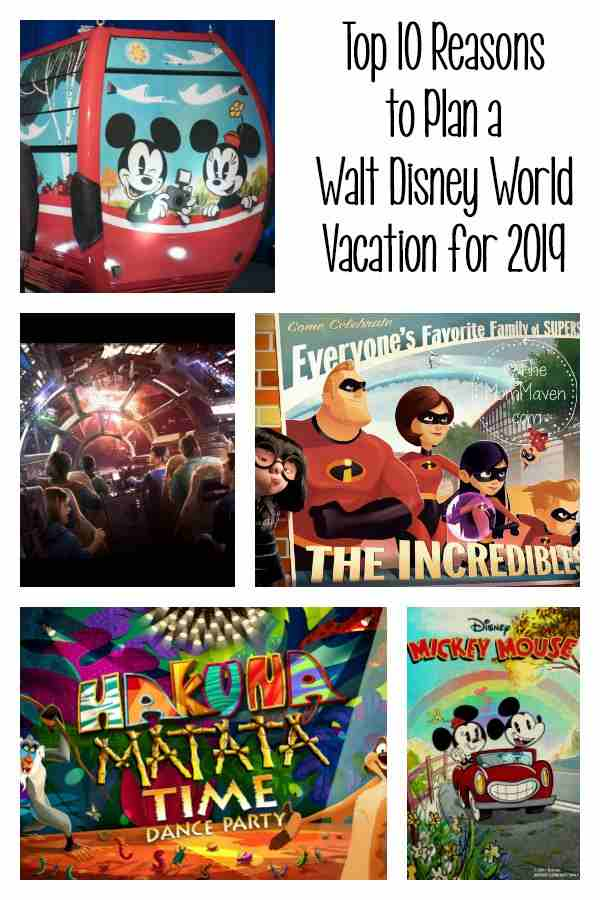 There are always lots of reasons to visit Walt Disney World any time but 2019 is shaping up to be quite an amazing year for the Florida theme parks.