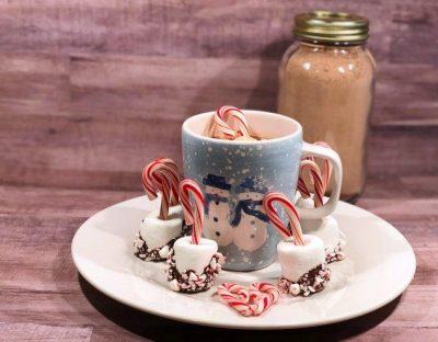 Hot Cocoa Mix with Candy Cane Marshmallows