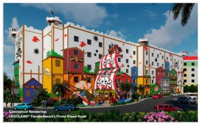 LEGOLAND® Florida Resort is proud to announce its newest LEGO® pirate-themed accommodation, Pirate Island Hotel, opening in spring 2020.