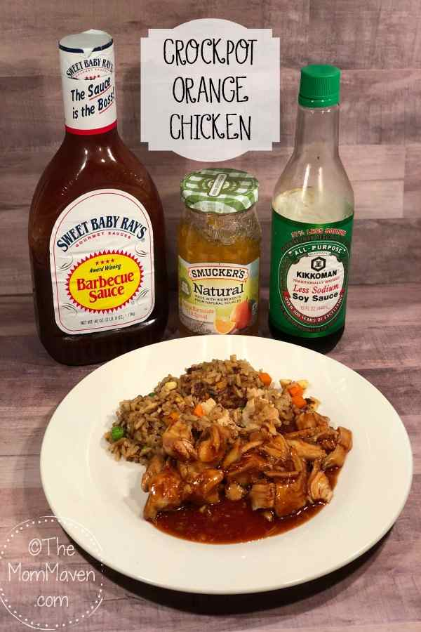Who knew you could make a flavorful Asian dish like Orange Chicken with 4 ingredients and a crockpot?