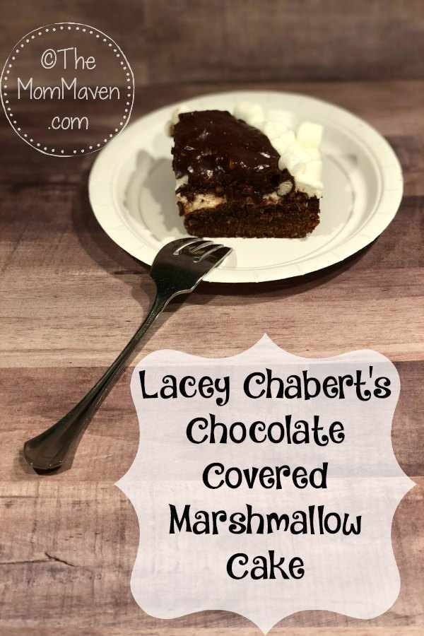 Lacey Chabert's Chocolate Covered Marshmallow Cake brings together a brownie-like cake with mini marshmallows and a sweet chocolate icing to the delight of kids and adults alike.