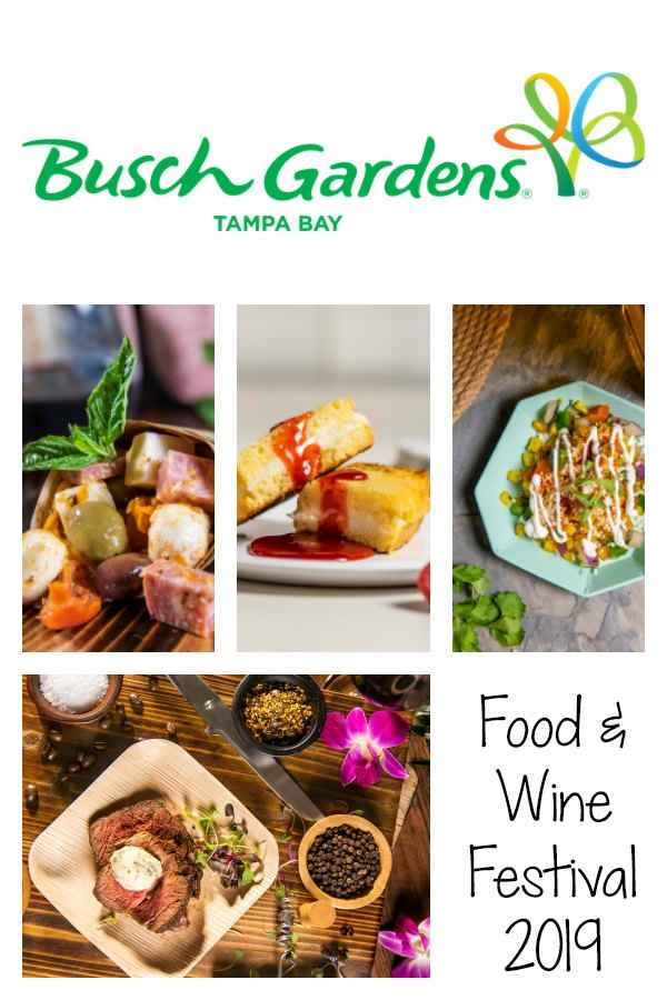 The Busch Gardens Tampa Bay Food & Wine Festival runs weekends from March 16 to April 28 and is included with admission to the park.