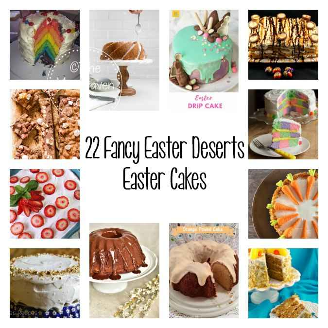 Are you hosting Easter Dinner this year? Maybe you were just asked to bring dessert. In either case I have 22 Fancy Easter Desserts to Wow Your Guests.