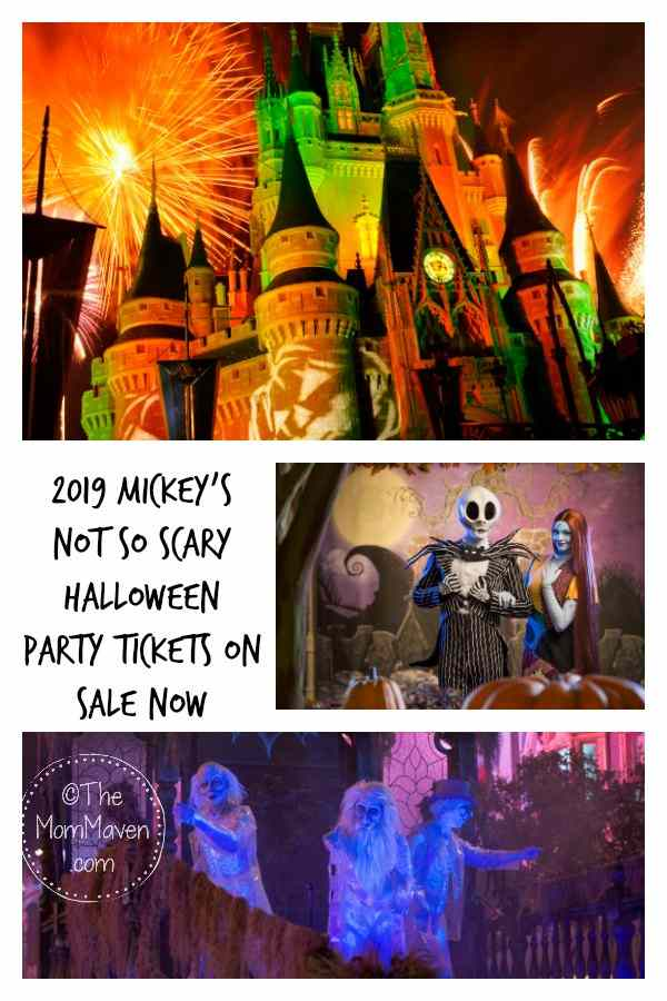 Tickets to the 2019 Mickey's Not So Scary Halloween Party at the Magic Kingdom in Walt Disney World went on sale in early April. Now is actually the perfect time to plan for fall Disney vacation