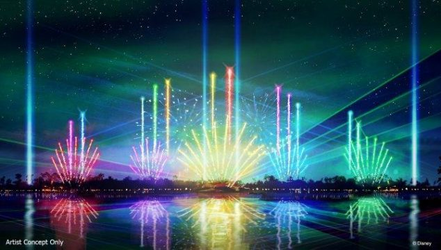 """""""Epcot Forever,"""" a new nighttime spectacular at Walt Disney World Resort, will debut Oct. 1, 2019, on World Showcase Lagoon at Epcot."""
