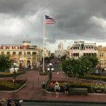 Main Street USA on a rainy day at Disney world