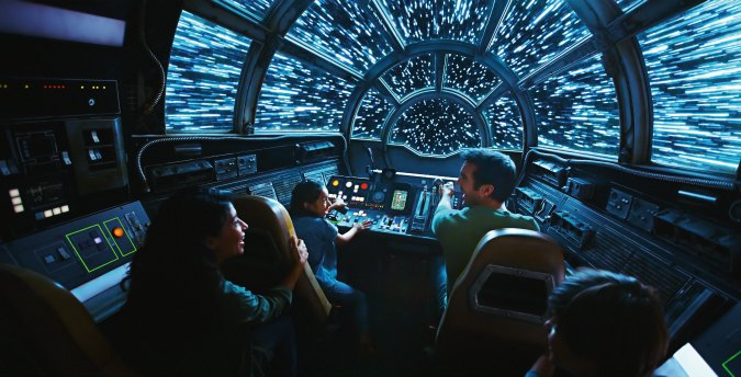 Inside Millennium Falcon: Smugglers Run, Disney guests will take the controls in one of three unique and critical roles aboard the fastest ship in the galaxy when Star Wars: Galaxy's Edge opens May 31, 2019, at Disneyland Resort in California and Aug. 29, 2019, at Walt Disney World Resort in Florida. (Disney Parks) Extra Extra Magic Hours