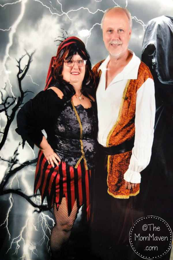 Us in our pirate costumes as we celebrated Halloween on Carnival cruise line