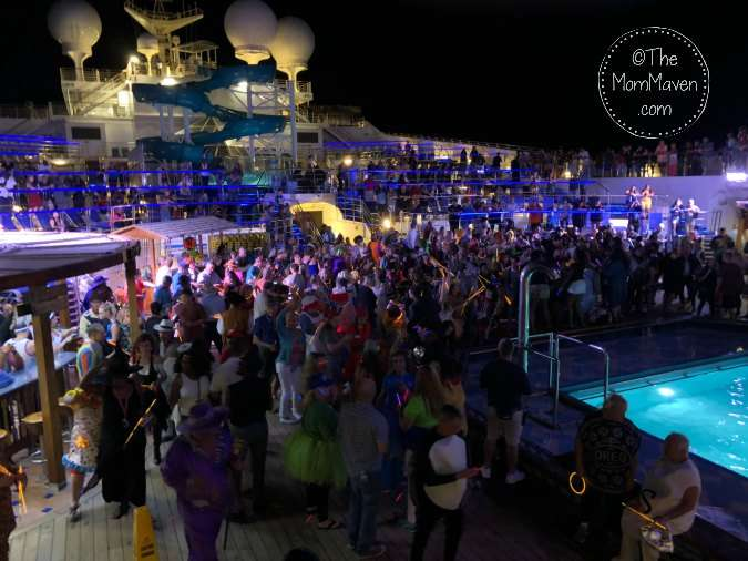 Patch's Pumpin' deck party on the carnival cruise line liberty