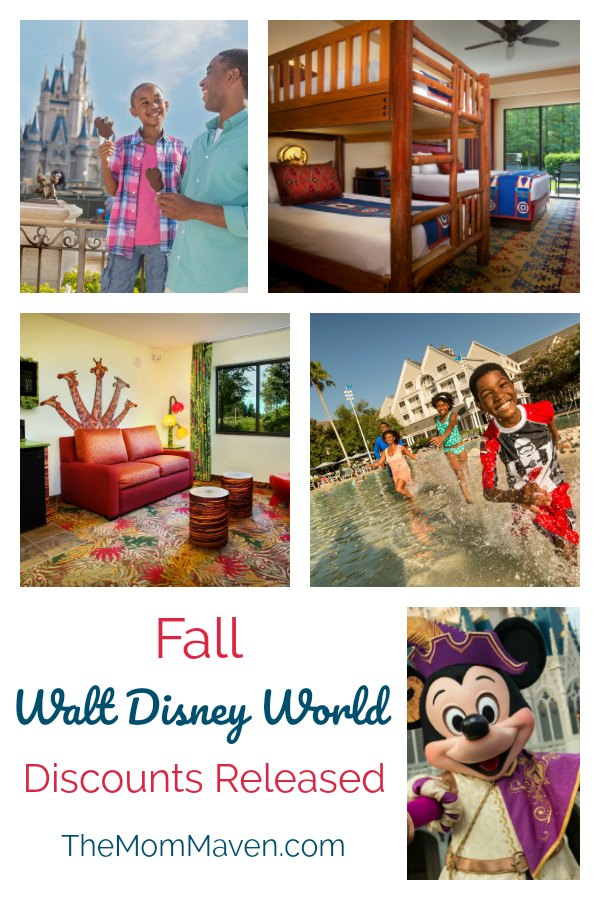 Fall Walt Disney World vacation Discounts Released