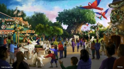 This Christmas at Animal Kingdom will introduce the biggest holiday season in its history, with festive new entertainment and holiday décor in every land.
