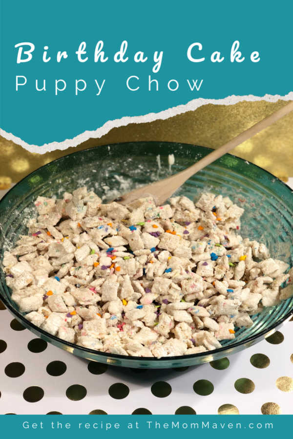 Cool Birthday Cake Puppy Chow Recipe The Mom Maven Personalised Birthday Cards Rectzonderlifede