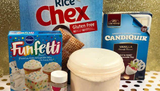 birthday cake puppy chow ingredients