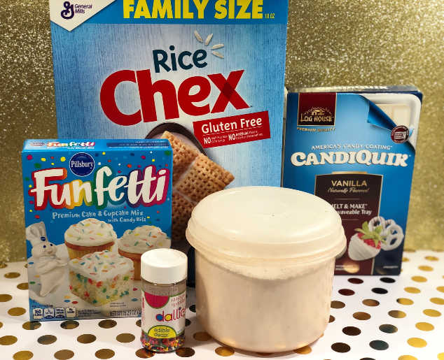 birthday cake puppy chow ingredients
