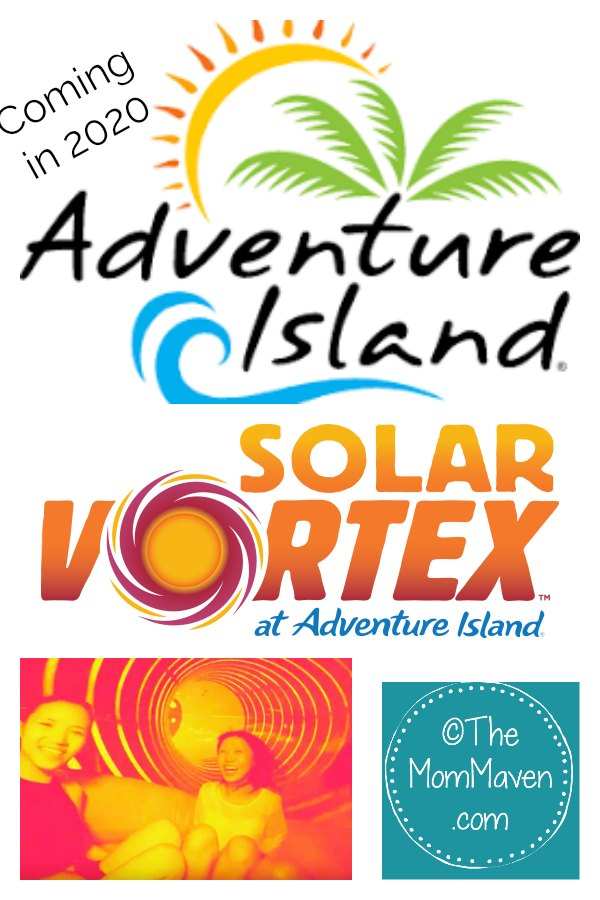 Spin and splash at Adventure Island on Solar Vortex — America's first dual-tailspin water slide.