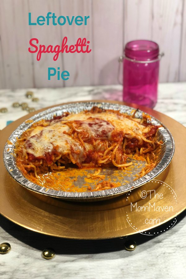 I always have leftover spaghetti. Turning those leftovers into a pie is one easy way to switch them up a bit.