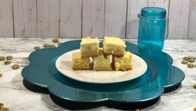 Did you know that you could make lemon cheesecake bars from a lemon cake mix? You can and the results are delicious!