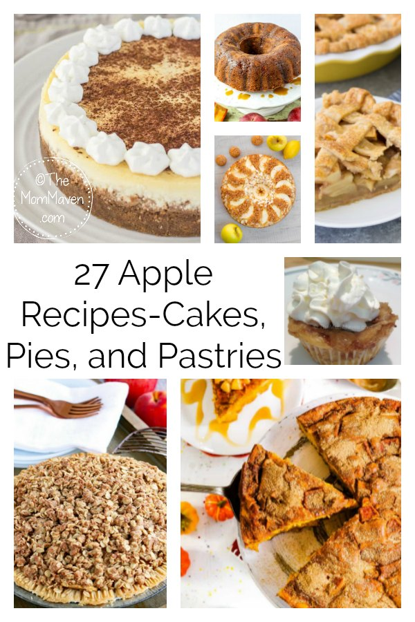 Fall is apple season and here are 27 apple recipes for cakes, pies, and pastries. I've gathered these recipes to help you have an apple filled fall!