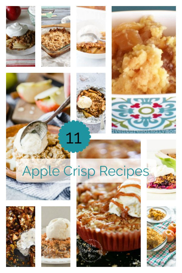 I have teamed up with several of my recipe blogging friends to share our favorite apple recipes. Today we start with apple crisp recipes.