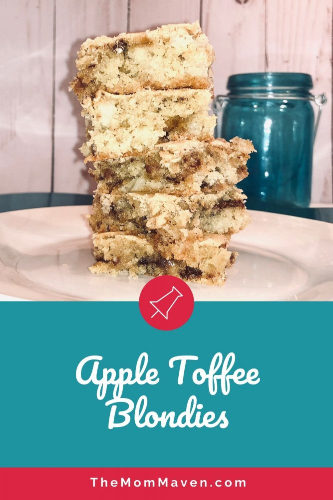 This apple recipe is easy to make. the Apple toffee blondies are rich and chewy, studded with pieces of apple and toffee bits.