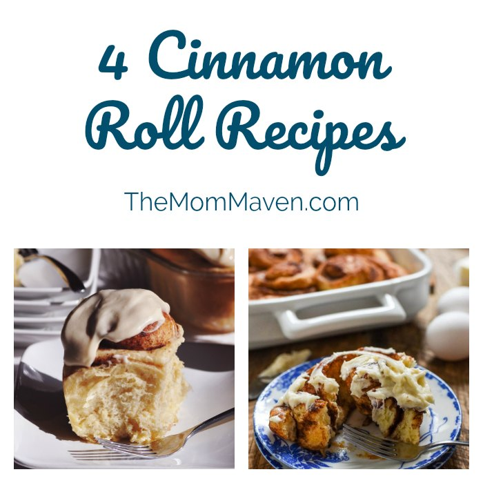 Collage of 4 Cinnamon Roll Recipes