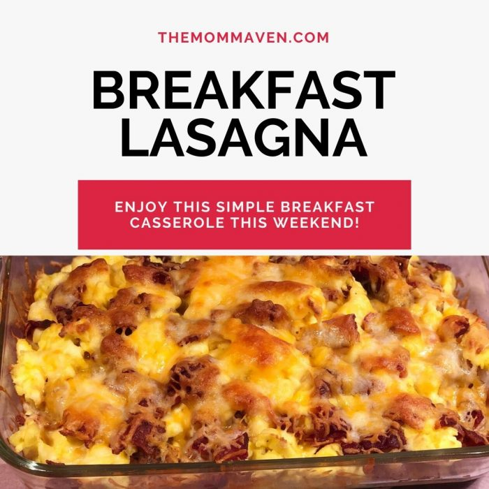 Made with eggs, bacon, hash browns, cheese, and tortillas, no one in the family can resist this Simple Breakfast Lasagna casserole.