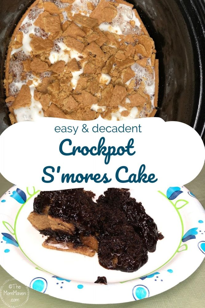Your family will enjoy the delicious taste of S'mores year round with this easy yet decadent ooey gooey crockpot s'mores cake.