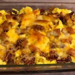Made with eggs, bacon, hash browns, cheese, and tortillas, no one can resist this Breakfast Lasagna easy breakfast casseole.