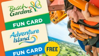 Busch Gardens Tampa Bay Fun Card Deal