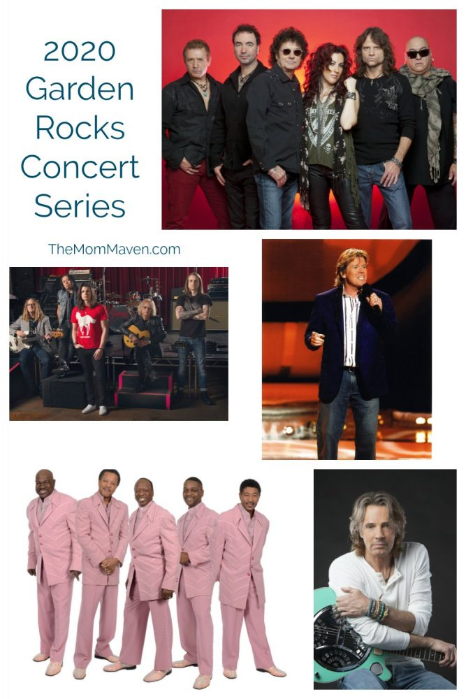 The Garden Rocks concert series is included in your Epcot park admission and are held nightly at 5:30, 6:45, and 8:00pm.