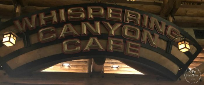 Whispering Canyon Cafe is a delightful and fun western themed table service restaurant located in the lobby of Disney's Wilderness Lodge.