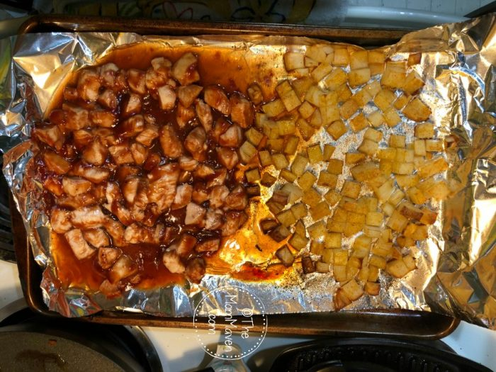 They say necessity is the mother of invention, with grocery shelved bare, I had to get creative for this Barbecue Chicken Sheet Pan Dinner recipe.