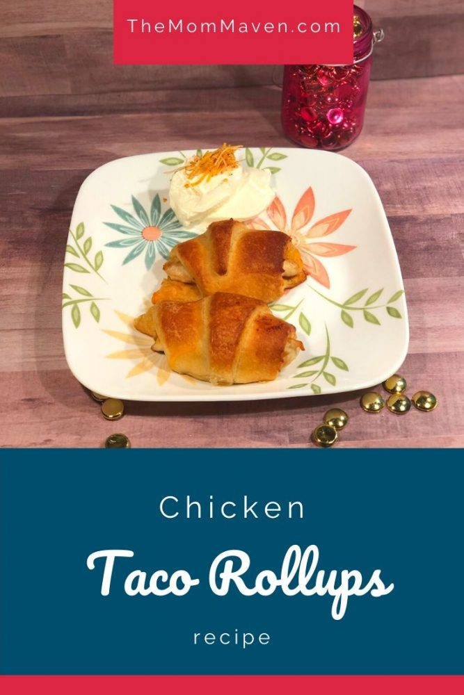 Looking for an easy kid friendly chicken recipe with only 5 ingredients? These Chicken Taco Rollups fit the bill.