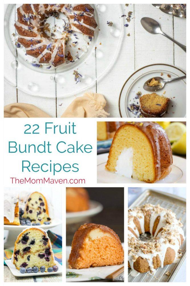 I hope you enjoy these 22 fruit bundt cake recipes.
