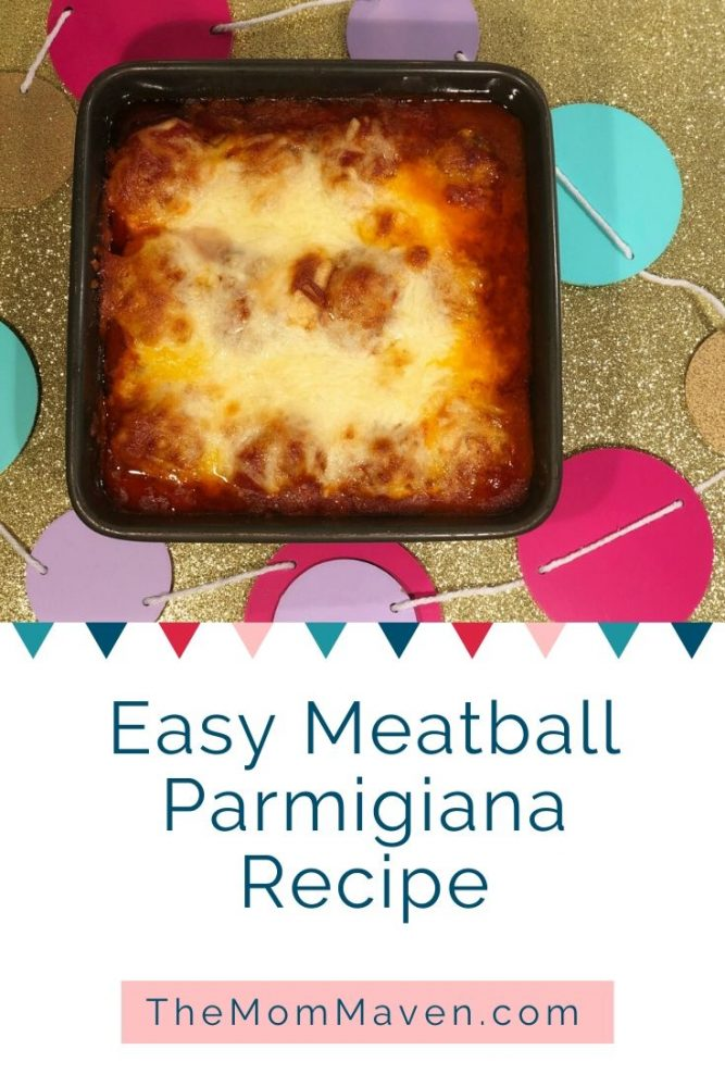 Easy meatball parmigiana is a simple, delicious  meal the whole family will enjoy, that can be on the table in less than an hour.