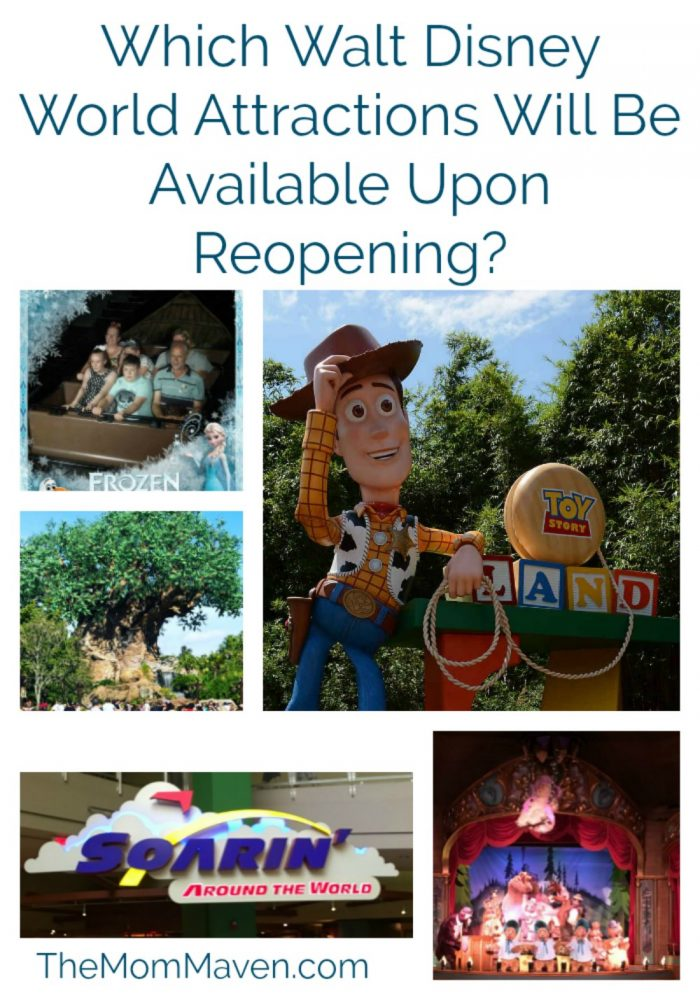 Which Walt Disney World Attractions Will Be Available Upon Reopening?