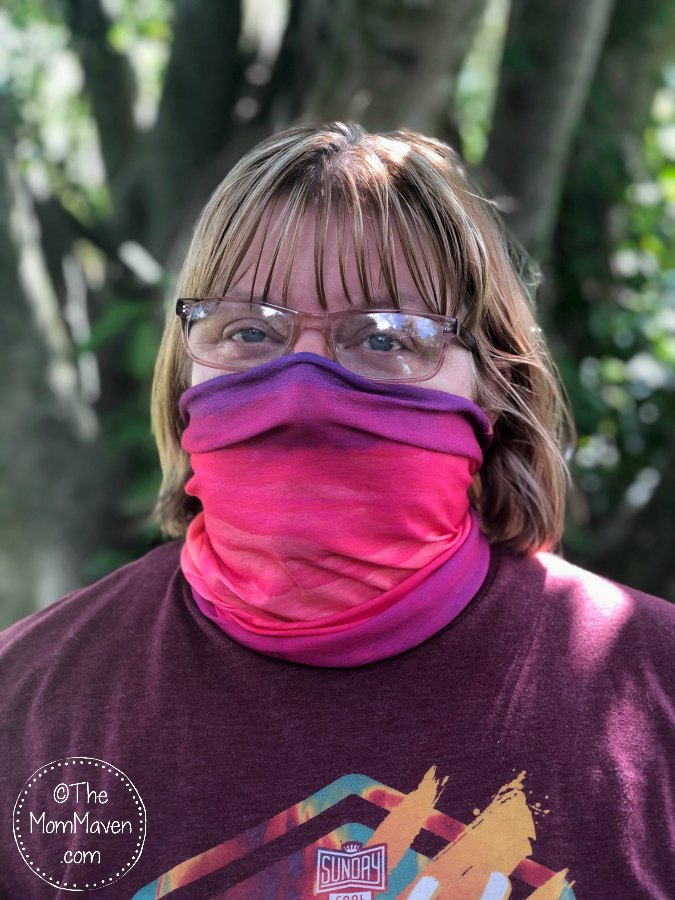 The Hoo-Rag Seamless Tubular Bandana is a comfortable and fashionable way to conform to face covering mandates without irritating your ears.