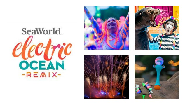 Electric Ocean Remix brings fireworks, sea lions, and summer nighttime fun to SeaWorld Orlando, weekends July 24-September 6, 2020. SeaWorld Parks and Entertainment