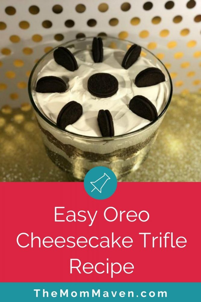This beautiful Oreo Cheesecake Trifle is packed with Oreo cookies, creamy cheesecake, decadent chocolate ganache, fudgy brownies and fluffy Cool Whip. #5 top recipe of 2020