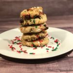 The kids love helping crush up the potato chips and pretzels for this sweet and salty Santa's Trash Cookies recipe.