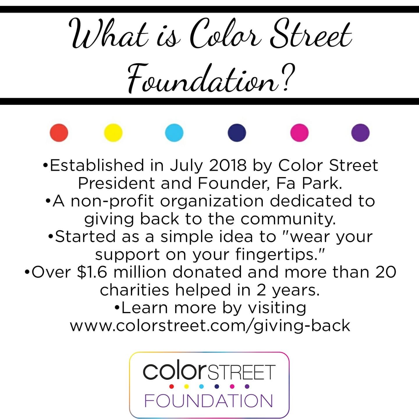 Color Street Foundation Never Forgotten