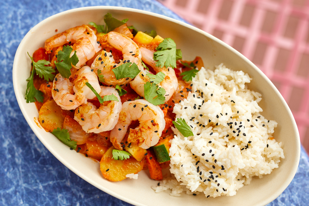 ABC Commissary shrimp rice bowl