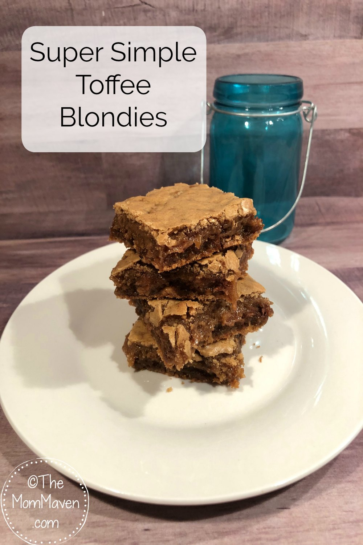 Super Simple Toffee Blondies