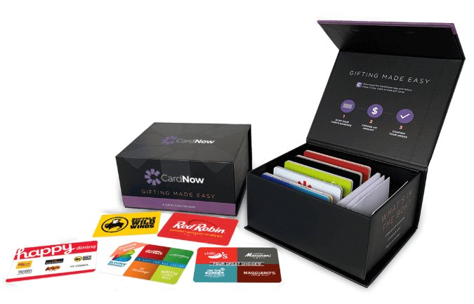 CardNow is a convenient way to keep gift cards on hand for when you need them without spending lots of money up front.