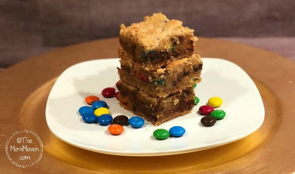 These delicious, easy to make, Peanut Butter Jumble Bars are the perfect after school or anytime treat.