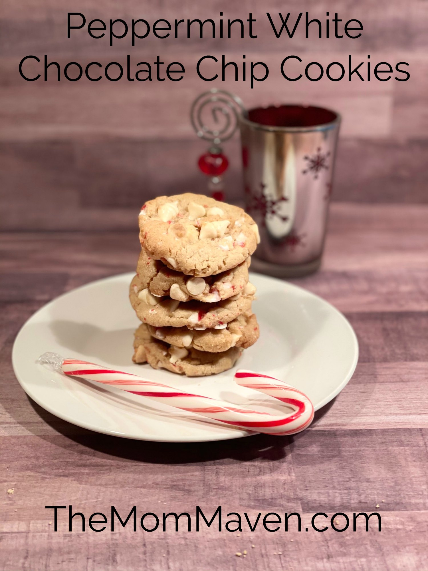 These Peppermint White Chocolate Chip Cookies are soft, delicious, not-too-sweet, and perfect for all your holiday gatherings!