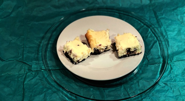 Andes Mint Cheesecake Bars