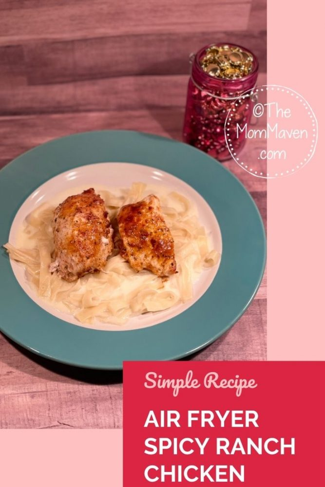 Simple and delicious, this Spicy Ranch Chicken comes together in just a few minutes in the air fryer.