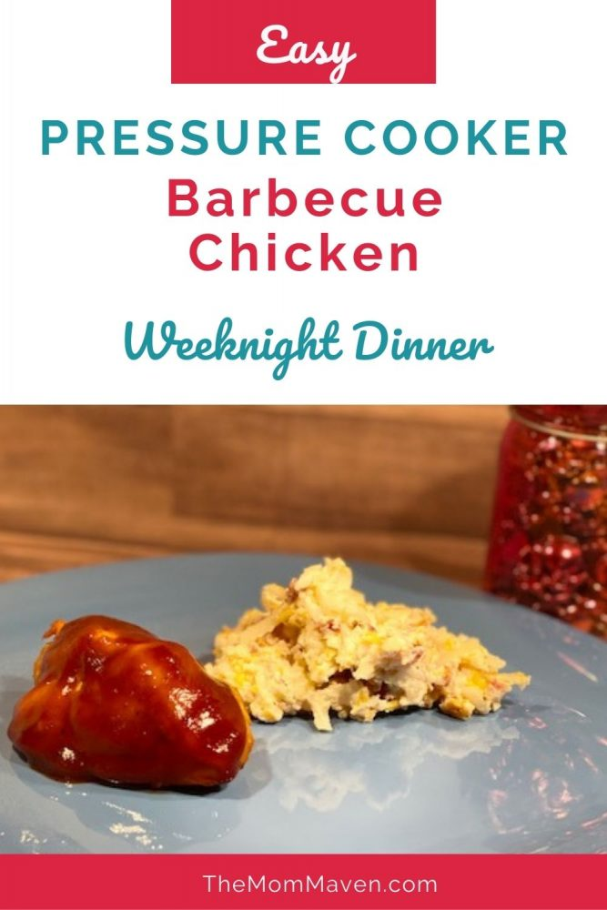 Pressure Cooker barbecue chicken with crack potatoes