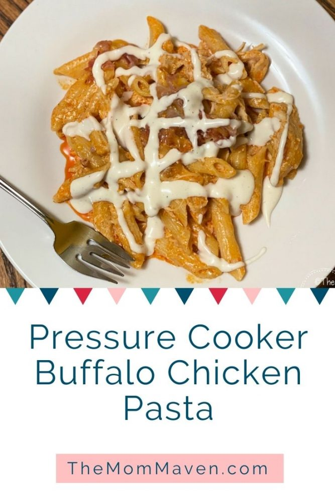 This easy and flavorful one pot pressure cooker meal is a favorite in our family. It only takes about 45 minutes to make this Pressure Cooker Buffalo Chicken Pasta recipe.